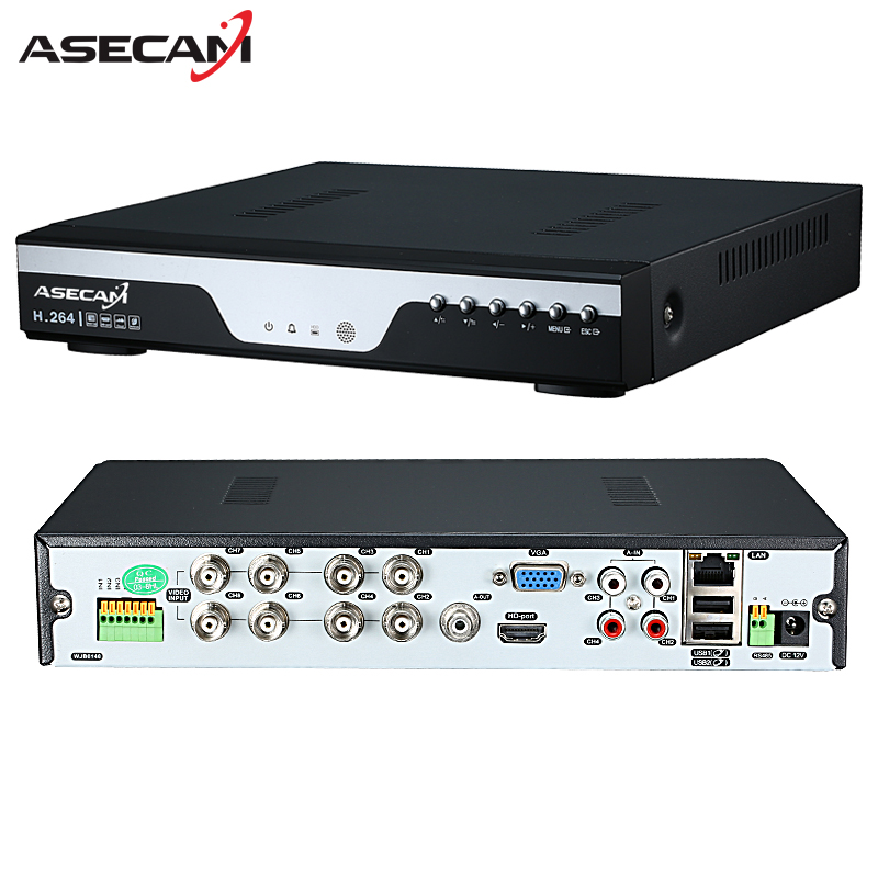 Factory 8ch 16ch AHD DVR 1080N 12fps CCTV Video Recorder Camera Network Onvif 8 Channel IP NVR 1080P 4CH Multi-language Alarm