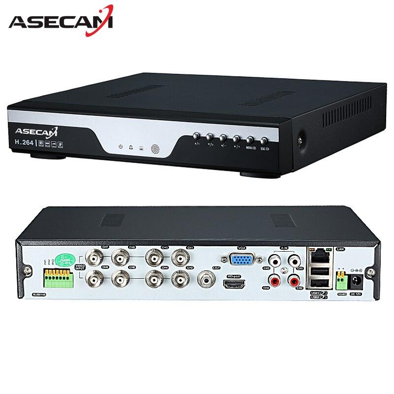 Usine 8ch 16ch AHD DVR 1080N 12fps CCTV Vidéo Enregistreur caméra Réseau Onvif 8 Canal IP NVR 1080 P 4CH Multi-langue alarme