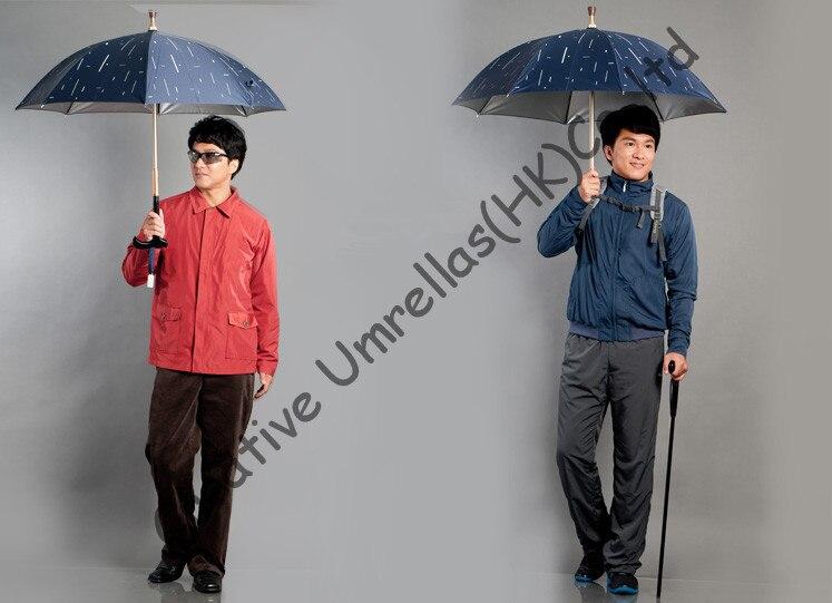 Auto-défense béquille parapluies, vieil homme incassable de parapluies, bâton de marche,, laiton arbre, 100% Formosa taffetas, muti-utiliser