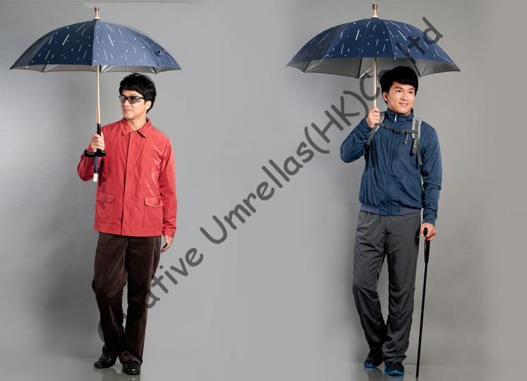 4f91a4655 Autodefensa muleta paraguas, viejo irrompible, paraguas bastón, eje de  latón, 100% Formosa tafetán, muti-utilizan