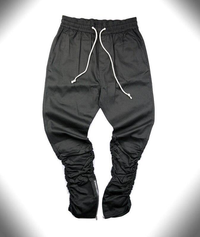 HZIJUE kaki / zwart / groen Koreaanse hiphop mode broek met ritsen - Herenkleding - Foto 5