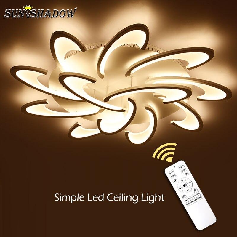 Black White Luminares Modern Led Chandelier For Living room Dining room Bedroom AC110V 220V Acrylic Led