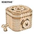 Robotime 123 piezas creativo DIY 3D caja del Tesoro juego de rompecabezas de madera montaje de juguete regalo para niños adolescentes adultos LK502