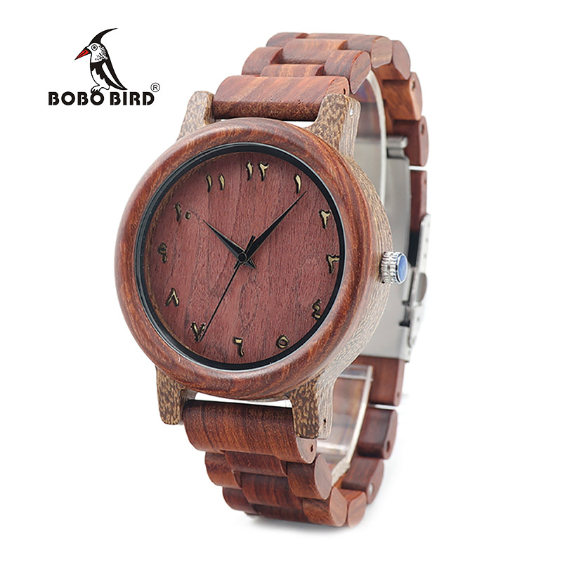BOBO BIRD V-N13 Mens Rose Wood Watches High Quality Quartz Wristwatch with Wood Band Clock in Gift Box Relogio недорго, оригинальная цена