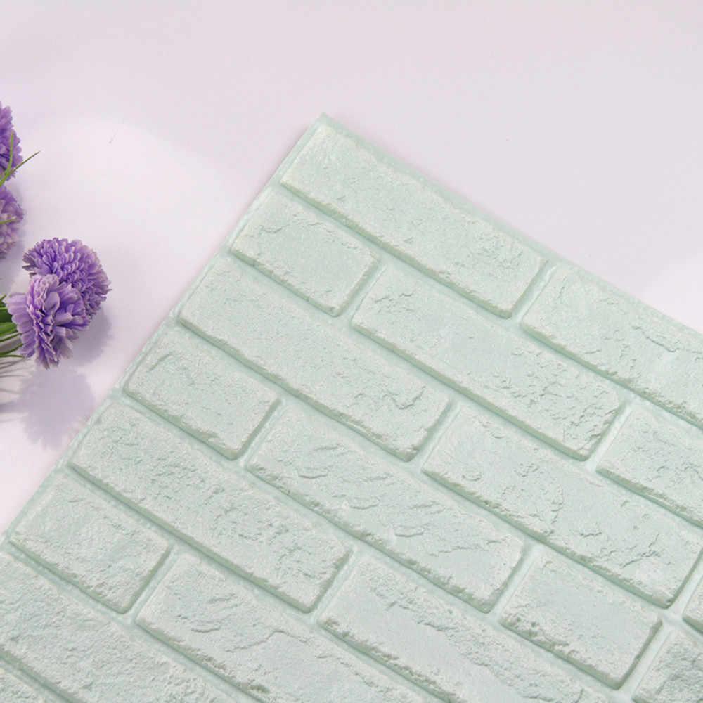 3D Kertas Dinding Batu Bata Pedesaan Efek Perekat Diri Stiker Dinding 30X30 Cm Stiker Dinding untuk Kamar Tidur ruang Tamu Dekorasi Rumah