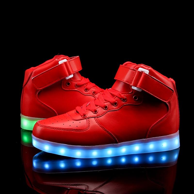 Uşaqlar üçün yüksək ayaqqabılar 7 Rəngli LED işıqlar, USB - Uşaq ayaqqabıları - Fotoqrafiya 5
