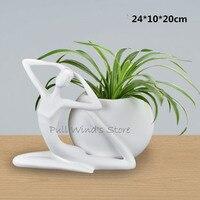 Mükemmel sanat çanak çömlek seramik vazo Soyut Sanat Karakter beyaz vazolar Ev Dekorasyonu saksı