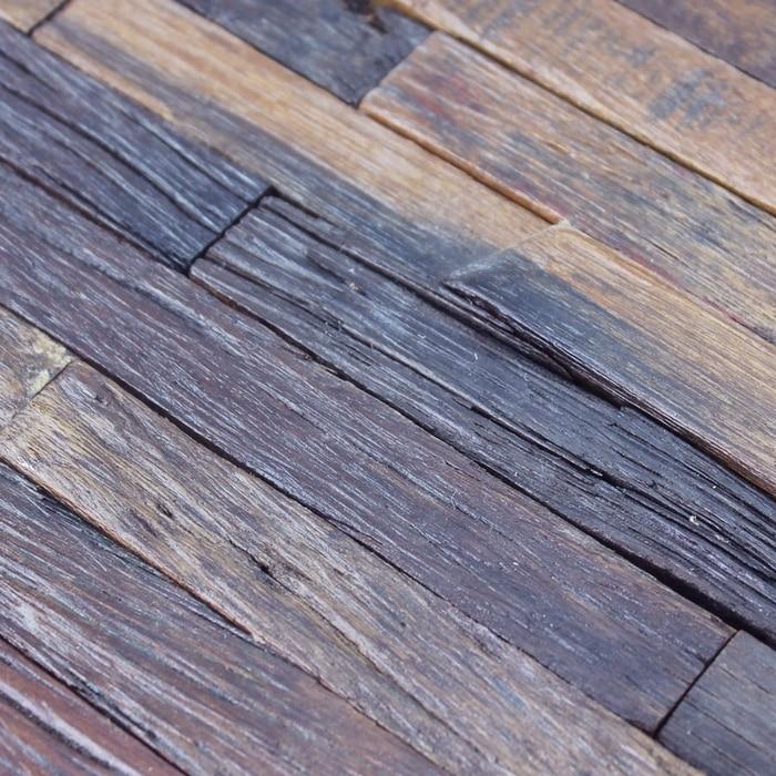 Ehw1014 Strip Rustic Log Old Wood Mosaic Tile Kitchen Backsplash Tile Ancient Wood Mosaic Rustic Old Ship Wood Panels