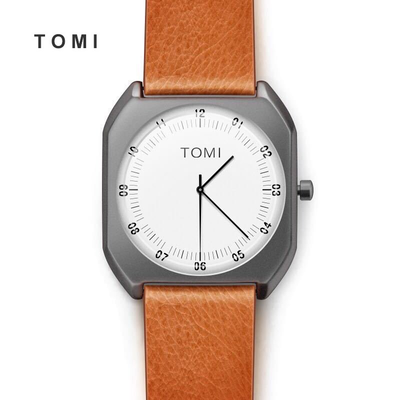 2017 Tomi Men watch Luxury Brand Watches Quartz Clock Simple Fashion Creative Minimalist Leather wristwatch Women Watch 20 new listing men watch luxury brand watches quartz clock fashion leather belts watch cheap sports wristwatch relogio male gift