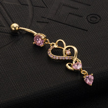 Drop Hearts Belly Ring