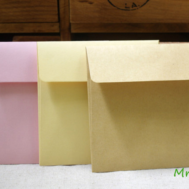 10pcs/lot 5colors Paper Rainbow Colorful Envelope Multicolour Envelope 10cmX10cm Stationery Office School Supplies 03217