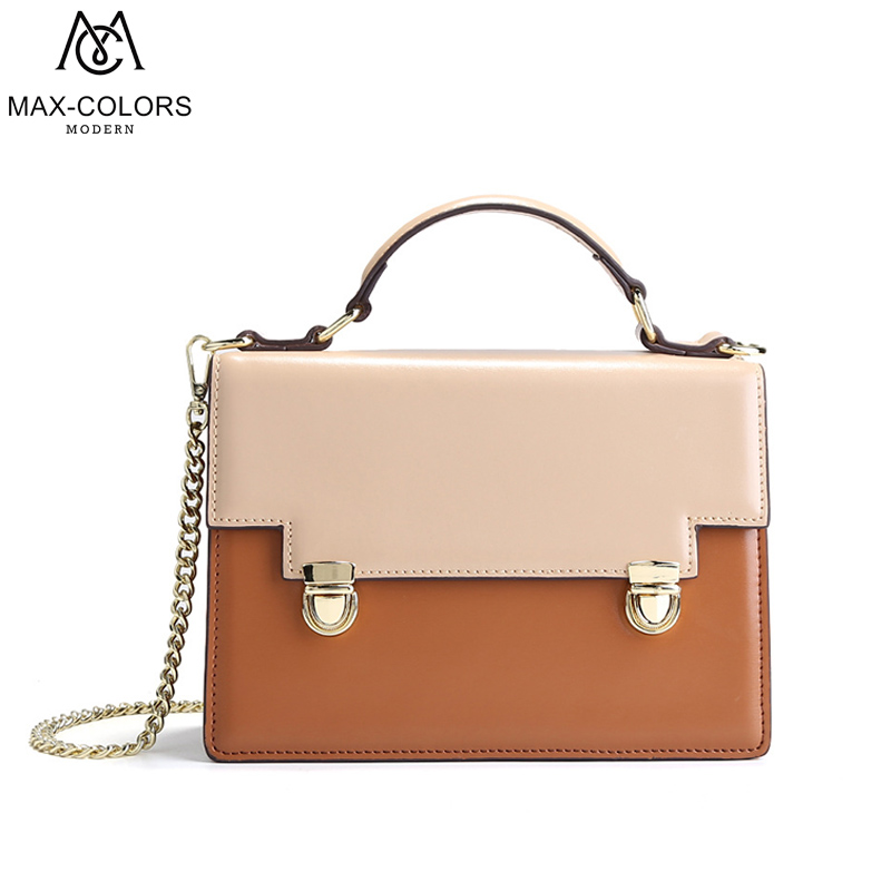 MC Fashion Women Leather Bag New Design Handbag Lady Patchwork Casual Tote Young Girl Shoulder Bags in 2018 Summer