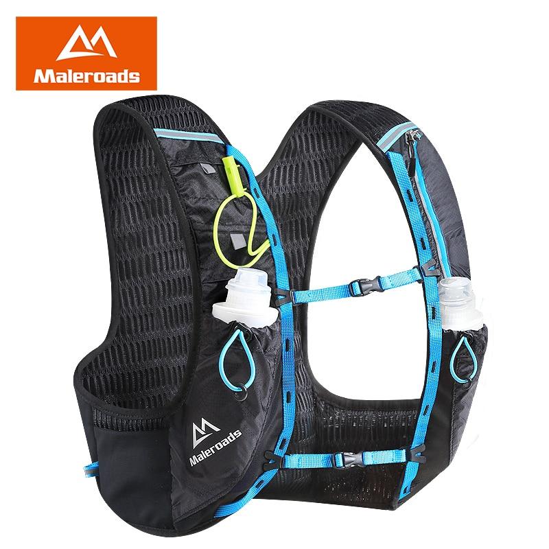 Maleroads Marathon Hydration Backpack 5L Outdoor Running Bag Hiking Backpack Vest Marathon Backpack Cycling Walking Rucksack