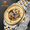 Men's watches OUYAWEI Luxury Brand Skeleton Mechanical Watches Fashion Male Business Wrist Watch Reloj Hombre Hot Wristwatches