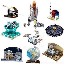 3D карточная доска пазл Аполлон луна ракета солнечная система Международная космическая станция головоломка Строительство кирпичная модель бумажное здание