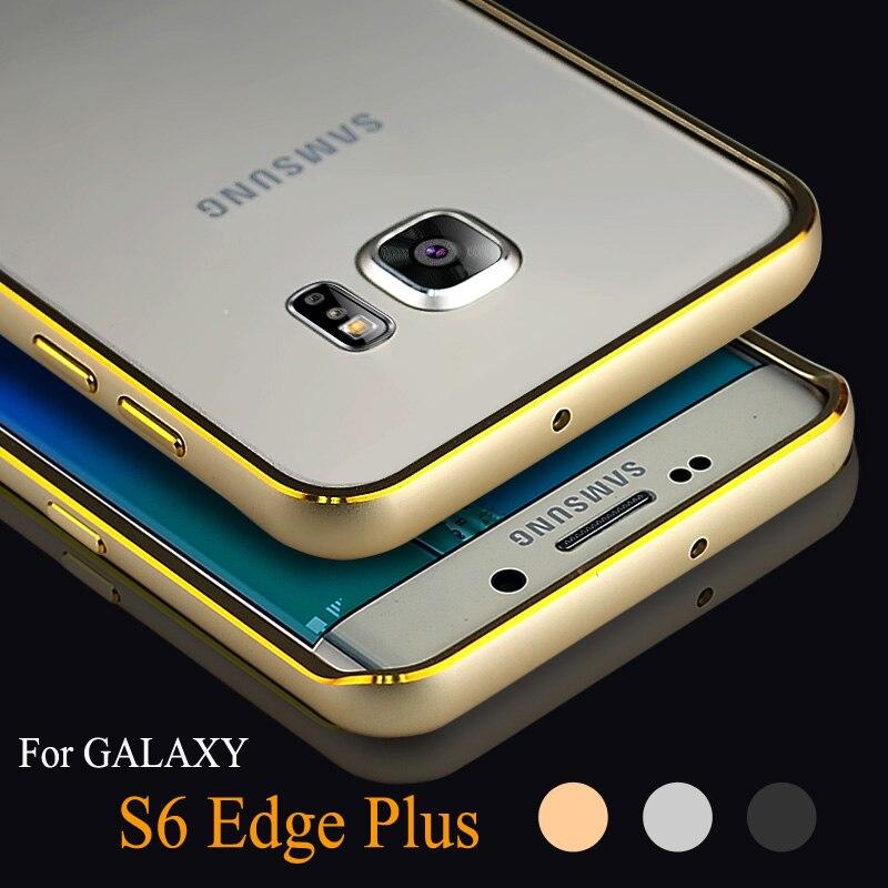 Luxe Coque pour Samsung S6 bord Plus aluminium bumper cadre arrière de cas pour Samsung Galaxy S6 bord Plus couvercle en métal de luxe de téléphone