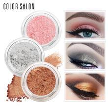 Color Salon Eye Shadow Glitter Shimmer Powder Natural Make Up Eyeshadow Pigment Highlighter Makeup Bright Palette