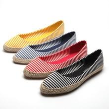 Размер США 5-9 Новых Женщин Скольжения На Эспадрильи Поскользнуться На Балетки Обувь