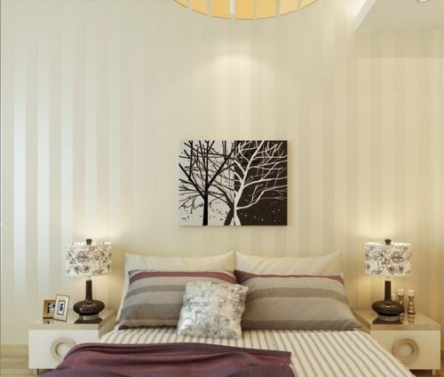 Купить с кэшбэком Q QIHANG European Modern Minimalist Country Luxury Stripe Wallpaper Roll 2 Colors Choose 10M*0.53M=5.3m2
