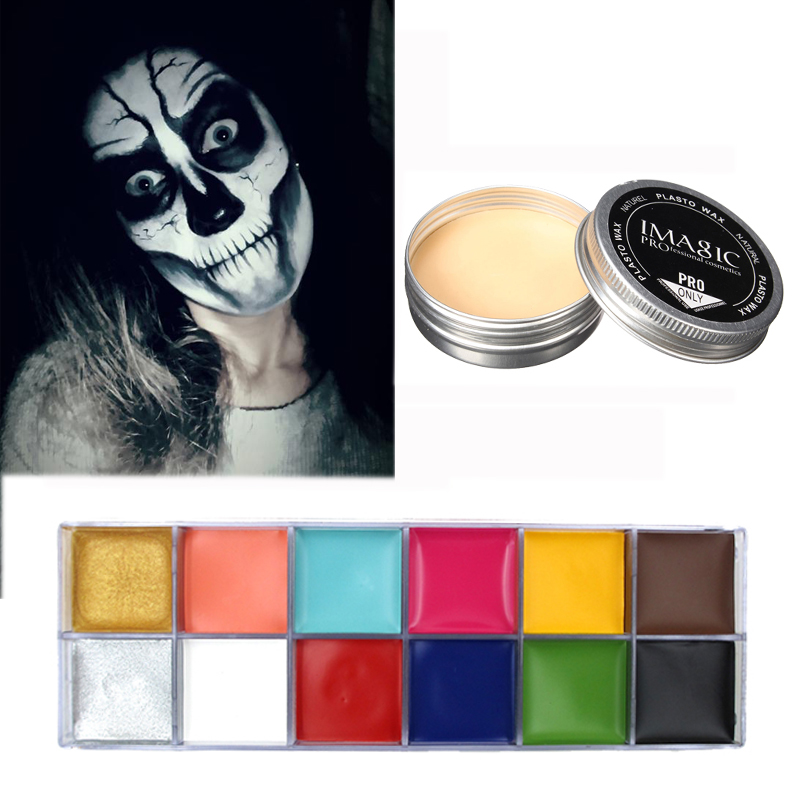 Halloween Modeling Fake Wound Scar makeup Wax Special Effect Makeup & Face Body Paint Oil Painting Art  Make Up Set Tools Party imagic cosmetics body painting flash tattoo palette halloween painting skin wax professional makeup remover painting tools