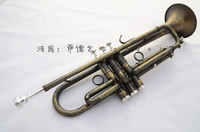 S a d d e I I Black Nickel Gold Bb Trumpet Matte Three Tune Brass Bell Professional Trumpete Instruments