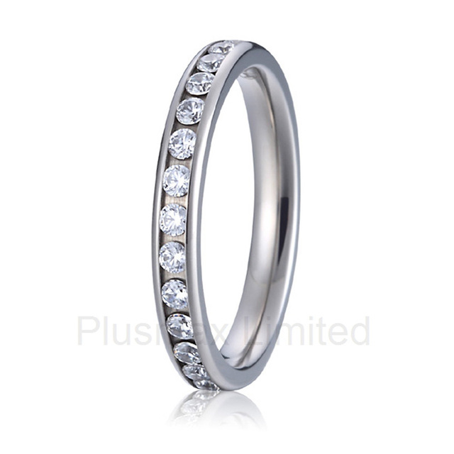 2016 high quality handmade pure Titanium jewelry Perfect gift for women engagement wedding band eternity rings