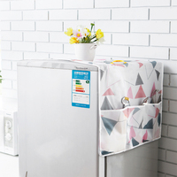 2019 Washing Machine Cover 55*130CM Washing Machine Coat High Quality PEVA Dustproof Cover Waterproof Cover Household Accessorie