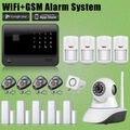 Chuangkesafe Casa/Oficina 2.4G WIFI GSM Inalámbrico de Alarma Antirrobo + Cámara de Red de Seguridad