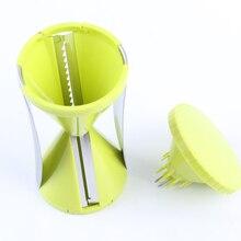 Rallador de Verduras Juliana espiral Slicer Spiralizer Cortador de Verduras Zanahoria Fideos Máquina de Pasta de Espagueti Fabricante De Ensalada