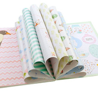 Coloffice 1PC Color Pages Notebook Beautiful Floral Retro Print Book Cover Gift Scrapbooking Craft DIY Kids Gift Wrapping Paper