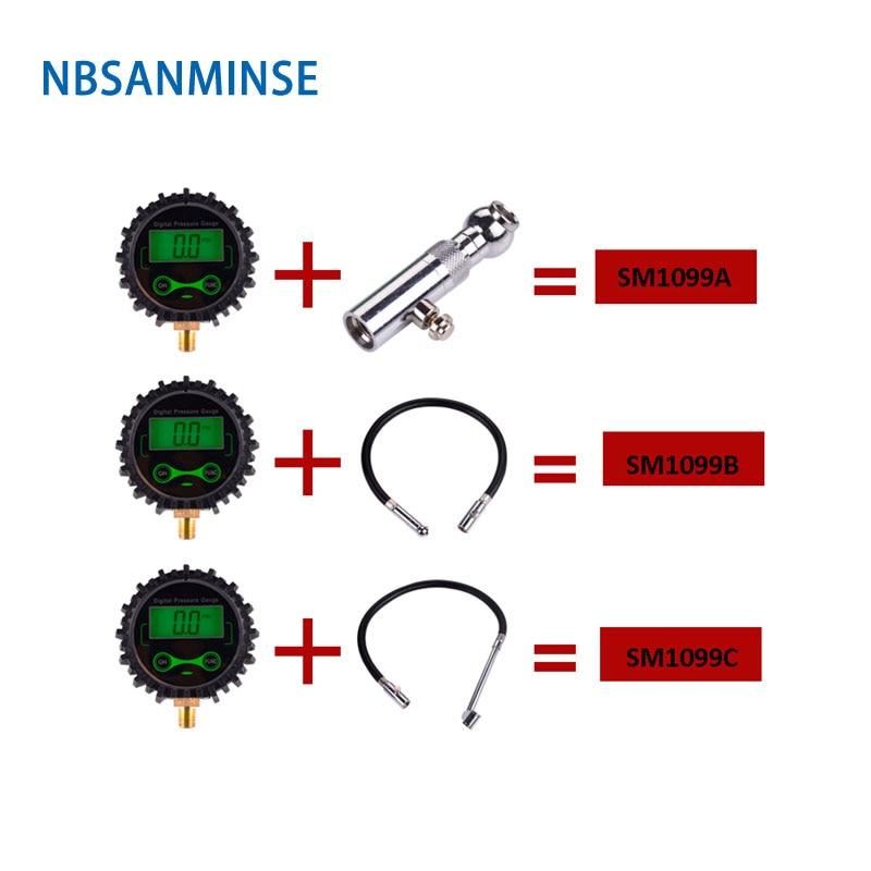 NBSANMINSE SM1099B Digital LCD Tire Tyre Air Pressure Gauge For Motorcycle Car Truck BikeNBSANMINSE SM1099B Digital LCD Tire Tyre Air Pressure Gauge For Motorcycle Car Truck Bike