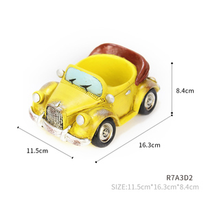 Image 5 - Roogo 자동차 꽃 냄비 재배자 실내 수지 정원 11 스타일 작은 즙이 많은 계획 냄비 야외 현대 가정 장식 인형