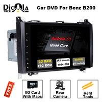 Android 7,11 автомобильный DVD для Mercedes Benz Sprinter Vito W169 W245 W469 W639 B200 gps радио DAB стерео 4 ядра 2 ГБ оперативная память с WI FI