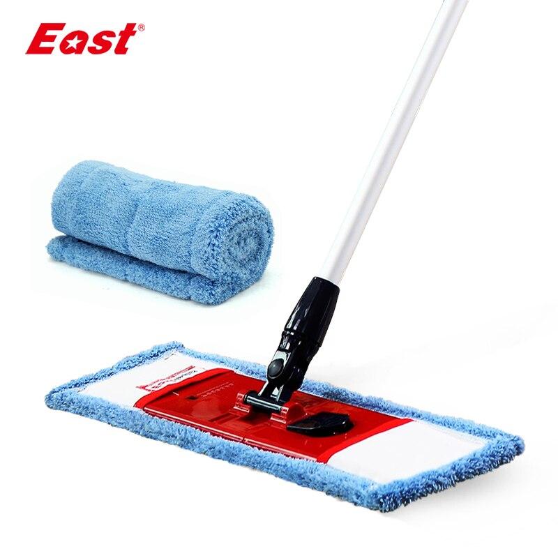 Kelet-lapos teleszkópos mop pólusú mikroszálas kendő törülközővel otthoni padlótisztító konyha nappali lapos mop tisztító eszközök
