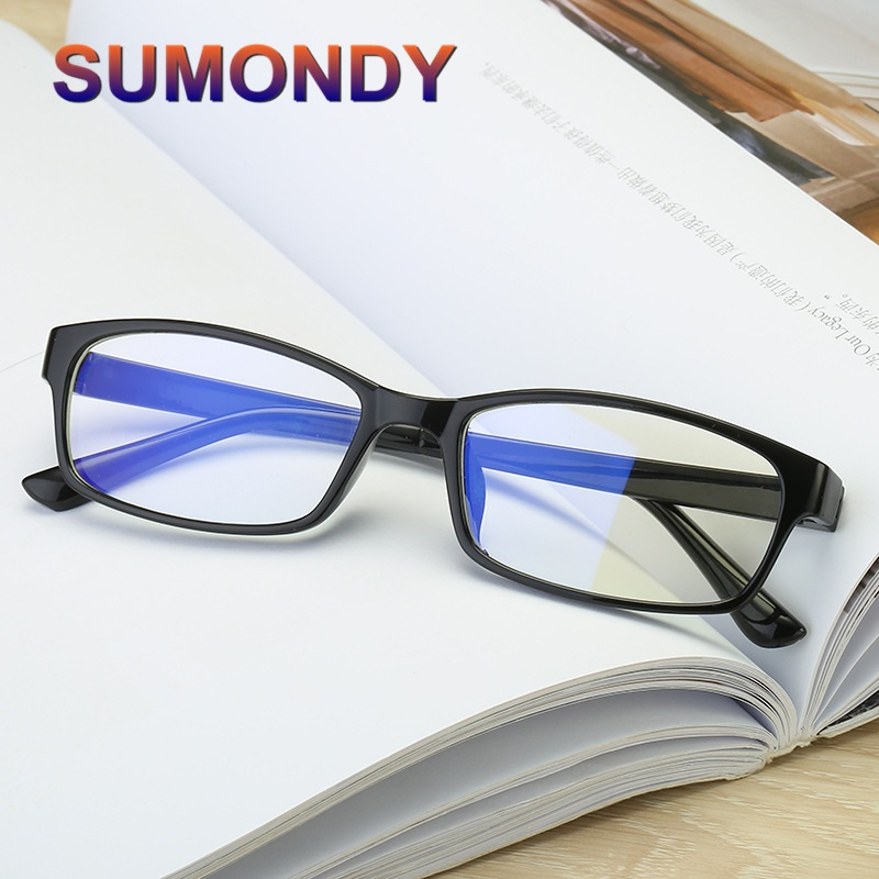 SUMONDY Myopia-Glasses Nearsighted Diopter-0.5 Women Spectacles Anti-Blue-Ray To-6 UF19