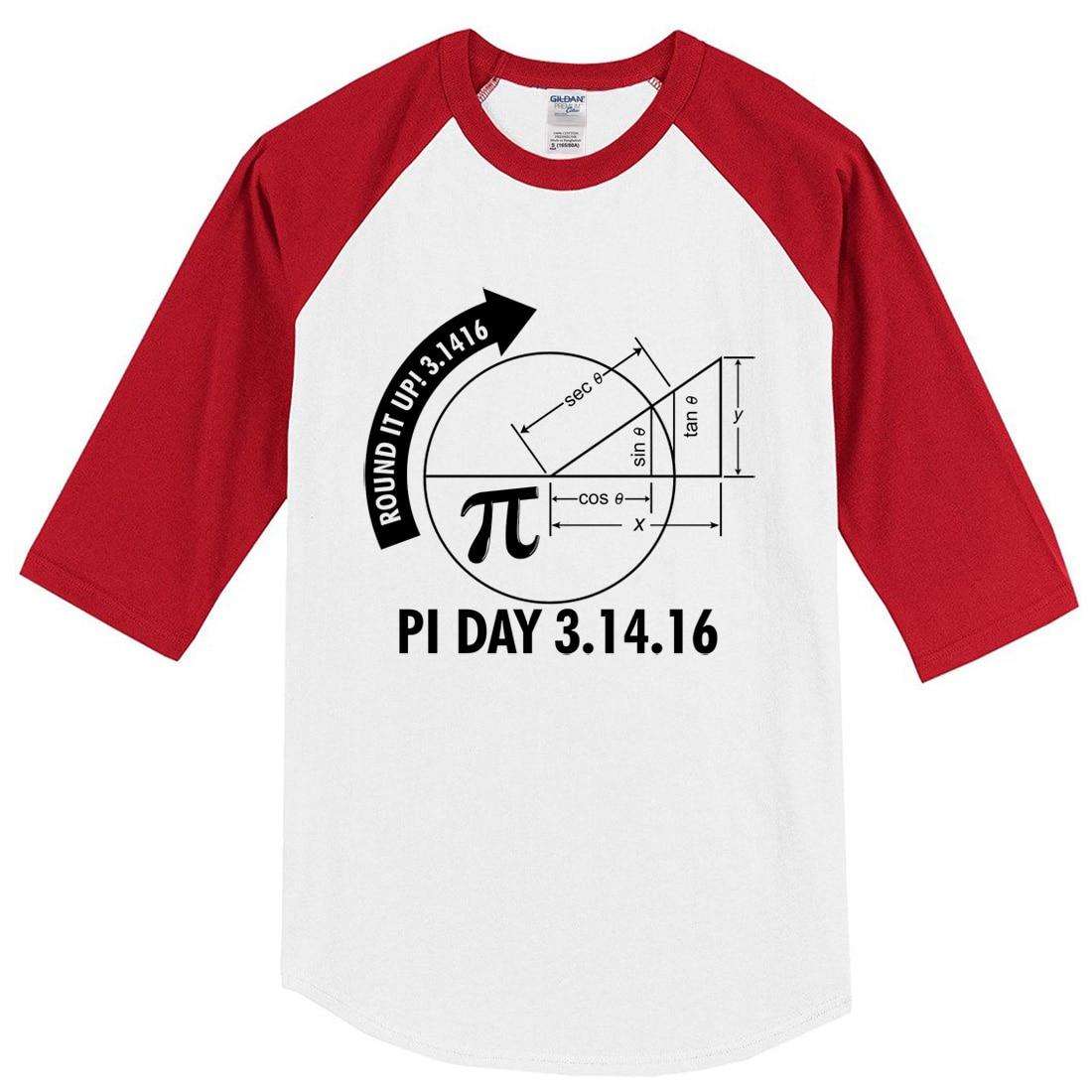 2017 summer T-shirts Pi Day 3.1416 Round It Up Math Graph STEM T-Shirt harajuku sportwear crossfit brand clothing raglan t shirt