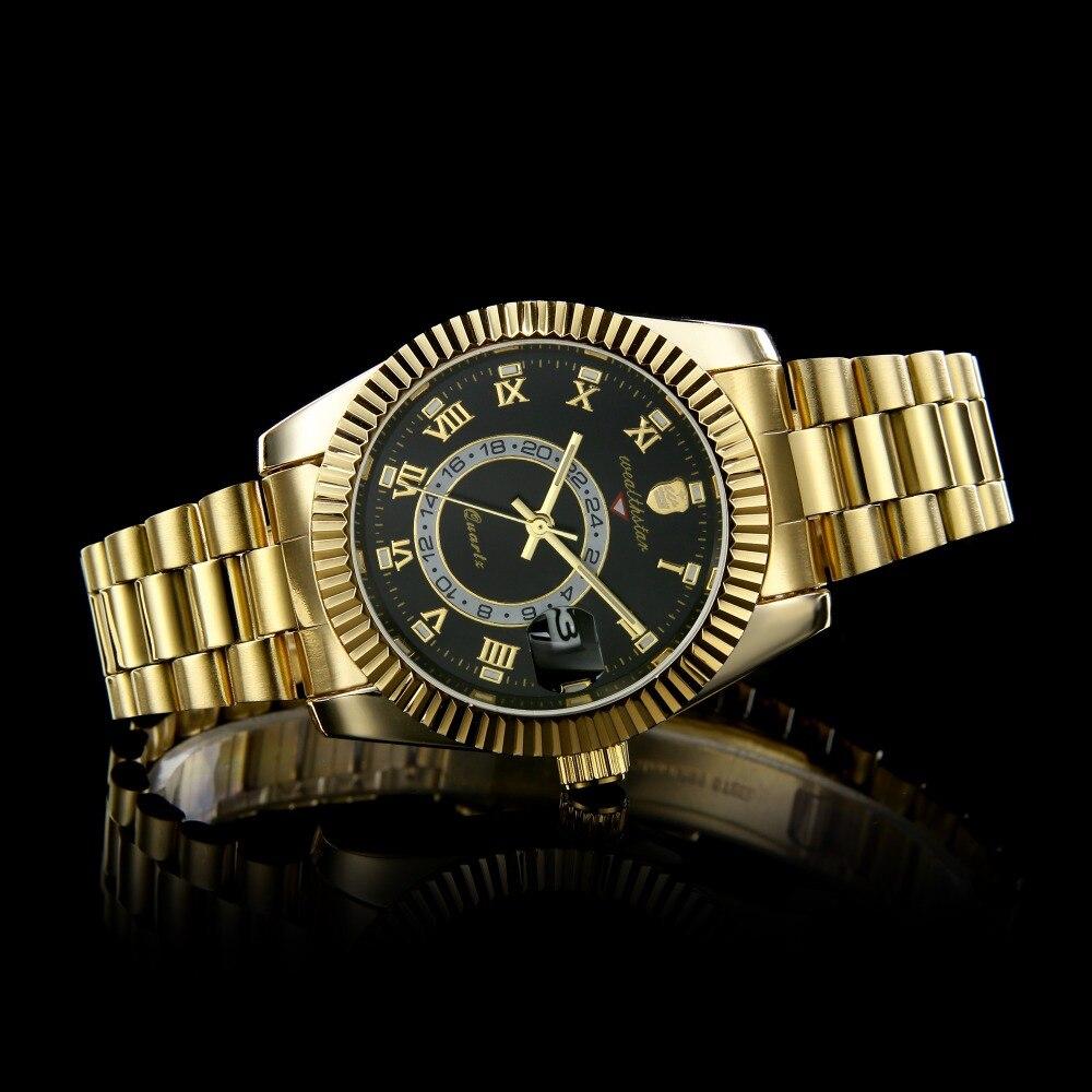 Wealthstar Marca Designer Homens Relógio papel preto Sports Relógios de  Quartzo relojes hombre marca famosa Auto Data Apenas 40mm Para homens 636d8ded57