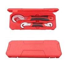 Многофункциональный 2 шт. универсальный гаечный ключ с регулируемой рукояткой набор ключей 9-32 мм трещотка гаечный ключ ручные инструменты