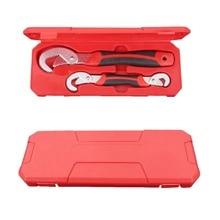 Multi-Функция 2 шт. универсальный ключ регулируемый захват Установить Ключ 9-32 мм гаечный ключ с трещоткой ручной инструмент