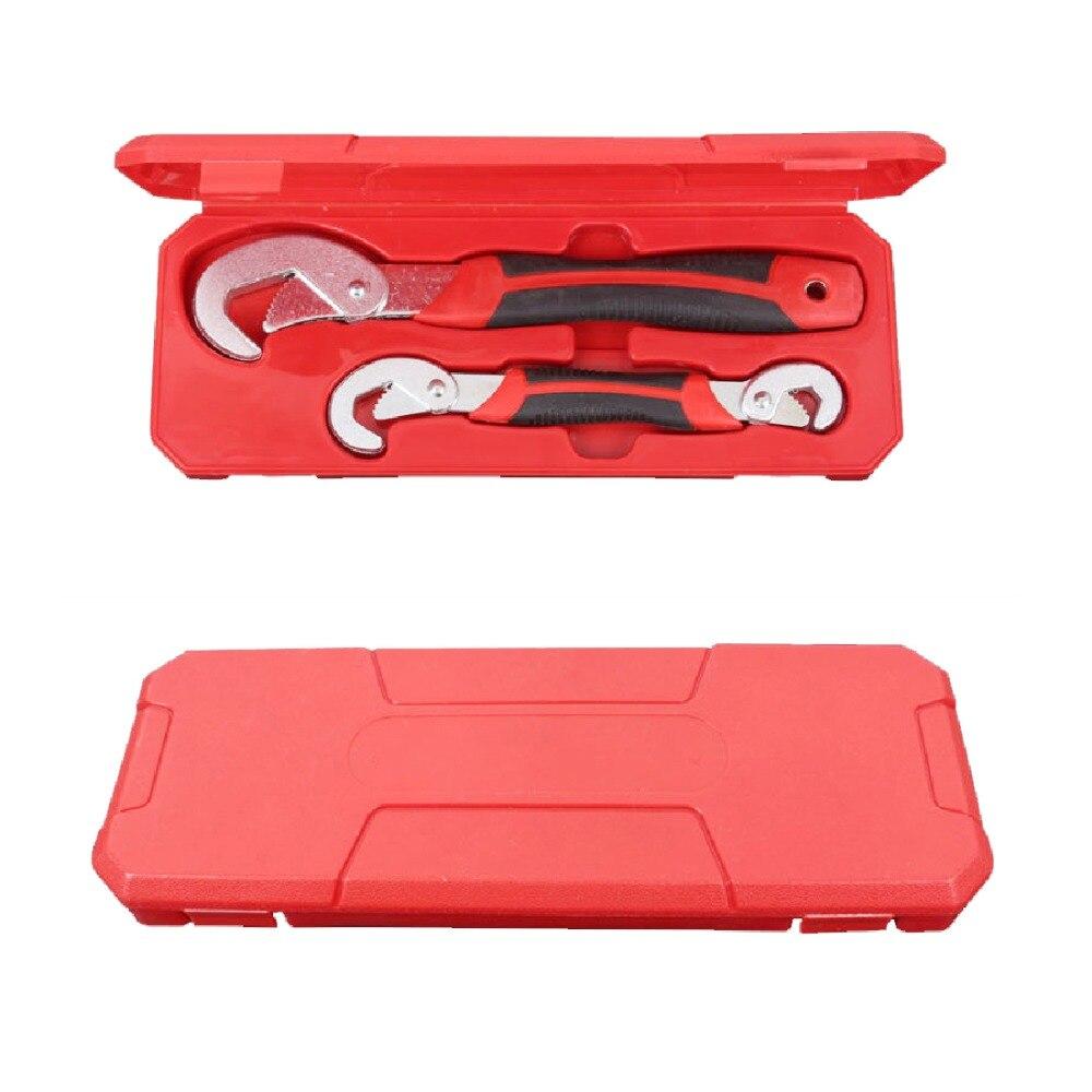 Multi-Funktion 2 stücke Universal Schlüssel Einstellbarer Griff Wrench set 9-32mm ratsche Spanner hand werkzeuge