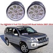 Für NISSAN X-trail T31 Closed Geländewagen 2007-2014 Auto styling frontstoßstange LED nebel lichter hohe helligkeit nebelscheinwerfer 1 satz