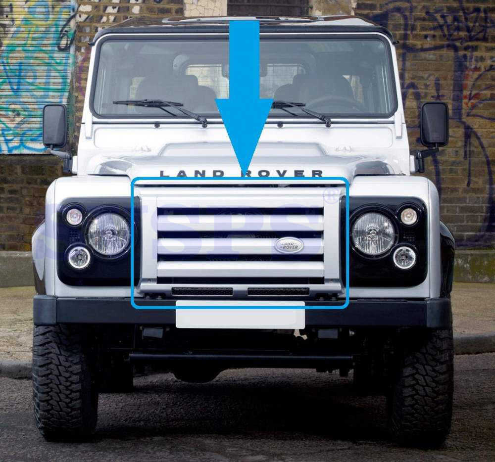 Car stying Front SVX Kit ABS Middle Grille & surrounds & Brackets For Land  Rover Defender Vehicle Auto Parts 1992-2016 year