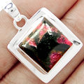 Hand make  Genuine Edulite Pendant 100% 925 Sterling Silver, 33mm, 7.8G