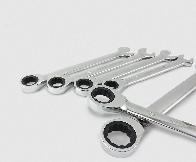 Zestaw kluczy płasko-oczkowych z grzechotką Narzędzia ręczne - Narzędzia ręczne - Zdjęcie 3