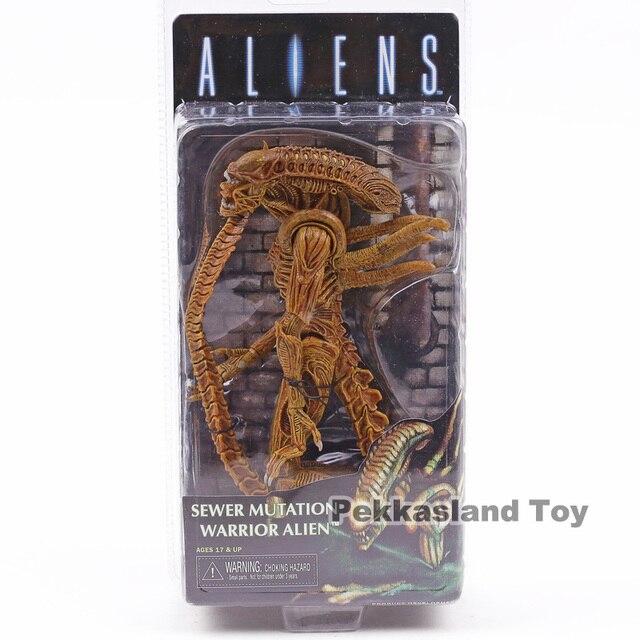 NECA Aliens Guerreiro Alienígena de Mutação de Esgoto PVC Action Figure Collectible Modelo Toy