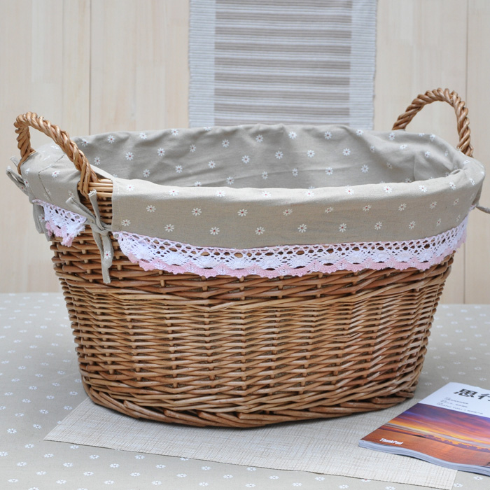 Free Shipping Lwillow Baby Room Toy Storage Basket Wicker Laundry Bag Dirty Clothes Eco Friendly With Handles