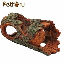 Petforu 23.5*14*10.5CM Simulation Resin Tree Bark Hiding Cave Reptile Aquarium Habitat Landscaping Ornament(China)