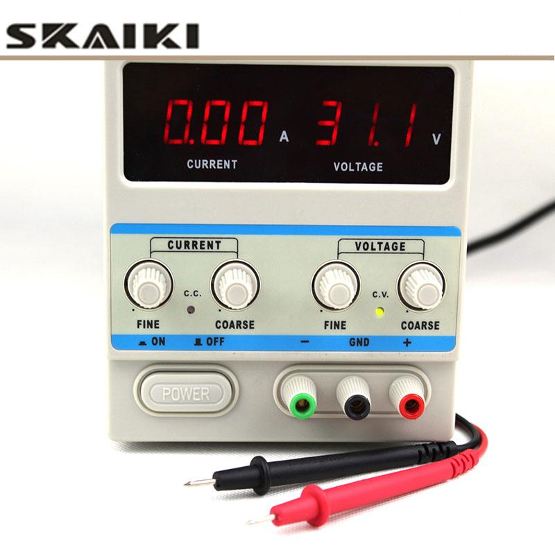 KXN-305D 30 V 5A ajuster l'alimentation cc 0,01a stabilisateur de tension de commutation source de courant constant avec clips de test pour laboratoire