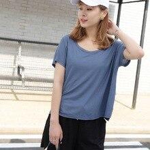 Women O Neck Short Sleeve Casual Loose Tee Shirt Basic T 2019 Summer harajuku Fashion Cotton & Linen