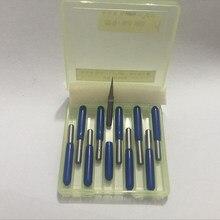 10 шт. 3,175 мм вольфрамовый бит V форма карбида PCB гравировальные биты CNC инструмент для маршрутизатора выберите размер J3.2001-3020 акриловый Фрезер для резьбы
